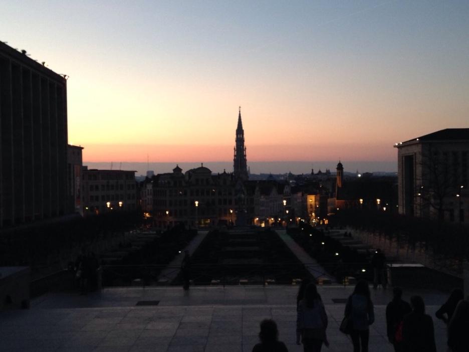 Brüssel bei Sonnenuntergang
