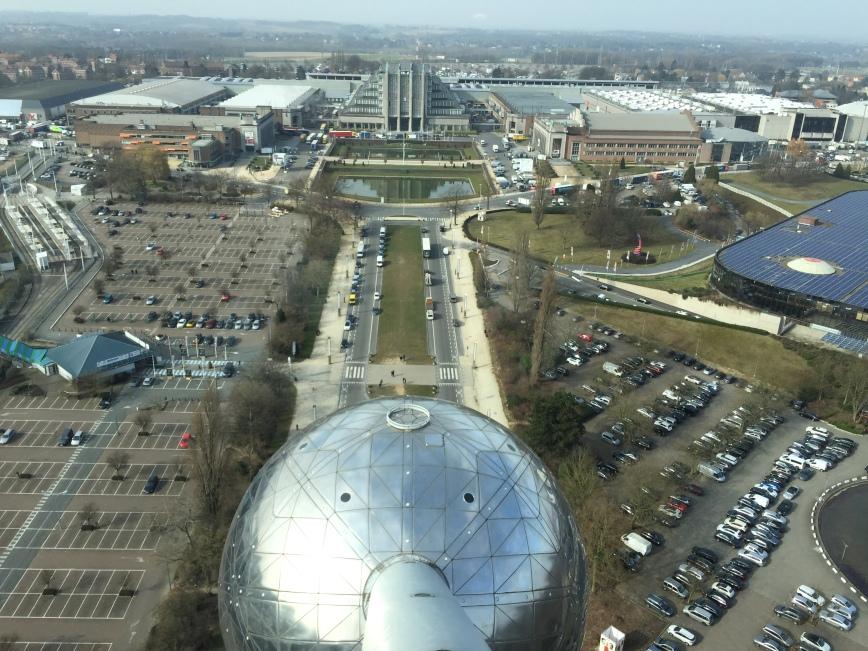 Die Aussicht vom Atomium