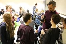 Sascha Prinz mit Schülern des Workshops