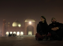 Die Badshani Moschee in Lahore, Pakistan